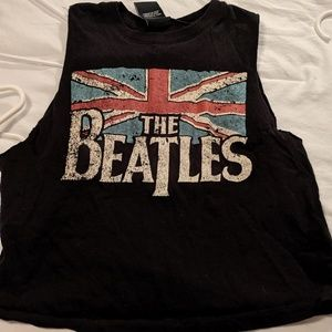 Beatles cropped muscle tee